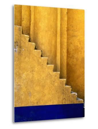 Tlaxcala Stairway at Parroquia De San Jose-Douglas Steakley-Metal Print