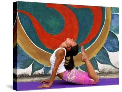 Female Astanga Yoga Practitioner in Backward Bending Posture-Christer Fredriksson-Stretched Canvas Print