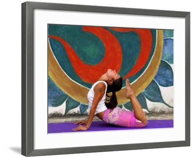 Female Astanga Yoga Practitioner in Backward Bending Posture-Christer Fredriksson-Framed Photographic Print