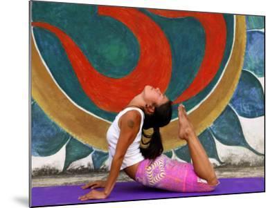 Female Astanga Yoga Practitioner in Backward Bending Posture-Christer Fredriksson-Mounted Photographic Print