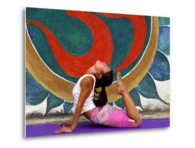 Female Astanga Yoga Practitioner in Backward Bending Posture-Christer Fredriksson-Metal Print