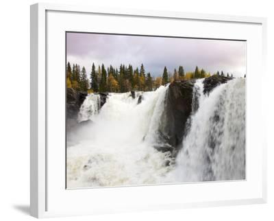 Waterfall and Forest in Autumn-Christer Fredriksson-Framed Photographic Print