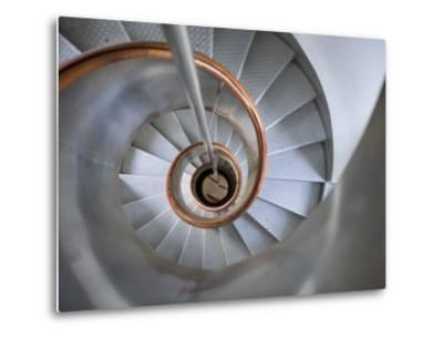 Staircase in Capelinhos Lighthouse-Holger Leue-Metal Print