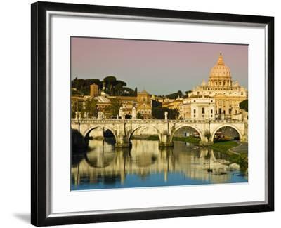 St Peter's Basilica from the Tiber River-Glenn Beanland-Framed Photographic Print