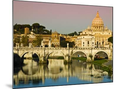St Peter's Basilica from the Tiber River-Glenn Beanland-Mounted Photographic Print