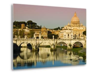 St Peter's Basilica from the Tiber River-Glenn Beanland-Metal Print
