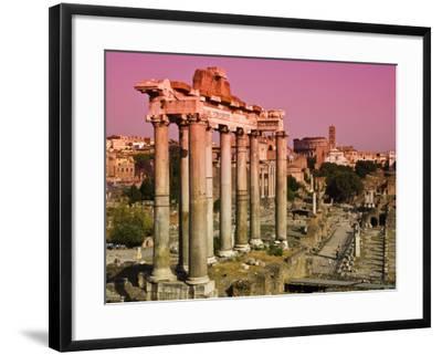 Roman Forum from Capitoline Hill-Glenn Beanland-Framed Photographic Print