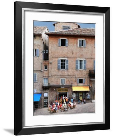 Outdoor Cafe in Piazza Del Duomo-Frank Wing-Framed Photographic Print