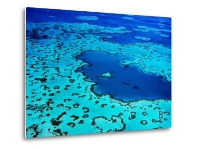 Aerial of Heart-Shaped Reef at Hardy Reef, Near Whitsunday Islands-Holger Leue-Metal Print