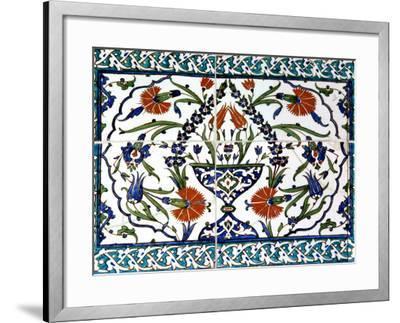 Iznik Tiles Detail at Hunkar Kasri-Izzet Keribar-Framed Photographic Print