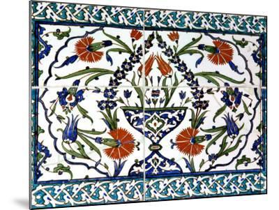 Iznik Tiles Detail at Hunkar Kasri-Izzet Keribar-Mounted Photographic Print