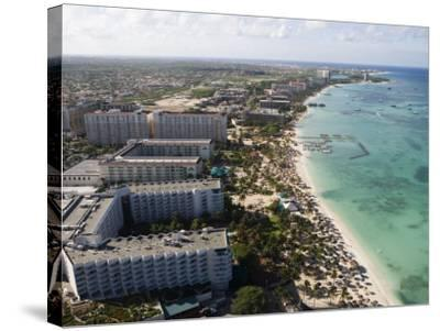 Aerial of Palm Beach and High-Rise Hotels and Resorts-Holger Leue-Stretched Canvas Print