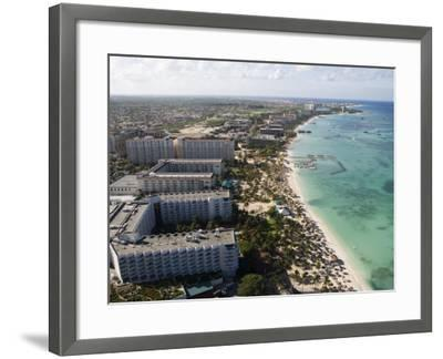Aerial of Palm Beach and High-Rise Hotels and Resorts-Holger Leue-Framed Photographic Print