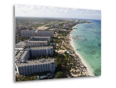 Aerial of Palm Beach and High-Rise Hotels and Resorts-Holger Leue-Metal Print