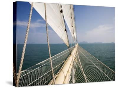 Bowsprit of Star Clipper Cruiseship Star Flyer-Holger Leue-Stretched Canvas Print