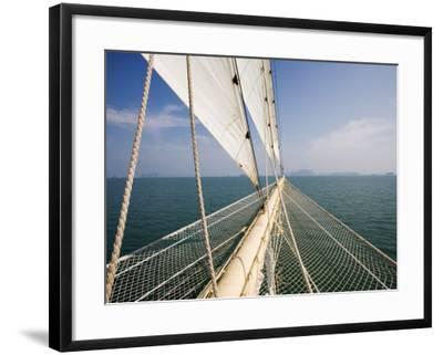 Bowsprit of Star Clipper Cruiseship Star Flyer-Holger Leue-Framed Photographic Print