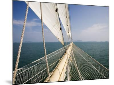 Bowsprit of Star Clipper Cruiseship Star Flyer-Holger Leue-Mounted Photographic Print