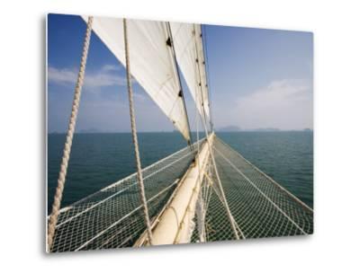 Bowsprit of Star Clipper Cruiseship Star Flyer-Holger Leue-Metal Print