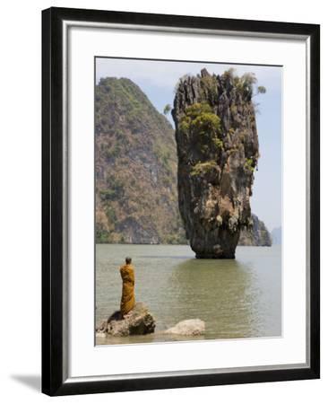 Thai Monk at Ko Phing Kan (James Bond Island)-Holger Leue-Framed Photographic Print