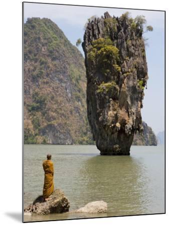Thai Monk at Ko Phing Kan (James Bond Island)-Holger Leue-Mounted Photographic Print
