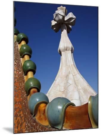 Ornate Mosaic Roof of Casa Batllo, Designed by Antoni Gaudi, in Gracia District-Kimberley Coole-Mounted Photographic Print