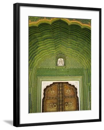 Detail of Green Gate, Pitam Niwas Chowk, City Palace-Kimberley Coole-Framed Photographic Print