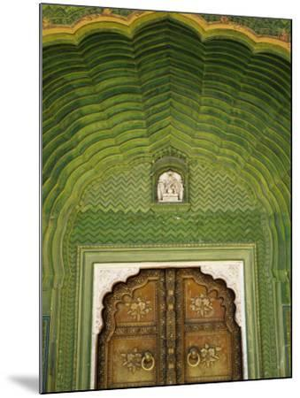 Detail of Green Gate, Pitam Niwas Chowk, City Palace-Kimberley Coole-Mounted Photographic Print