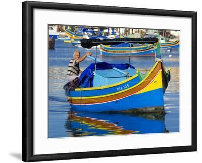 Fishing Boat in Marsaxlokk Harbour-Jean-pierre Lescourret-Framed Photographic Print