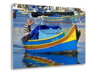 Fishing Boat in Marsaxlokk Harbour-Jean-pierre Lescourret-Metal Print