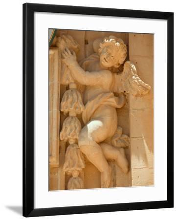 Cherub Detail at Church of Gharb-Jean-pierre Lescourret-Framed Photographic Print