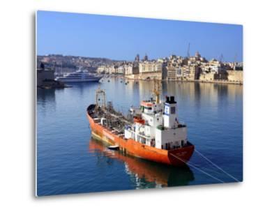 Boat Moored in Grand Harbour-Jean-pierre Lescourret-Metal Print