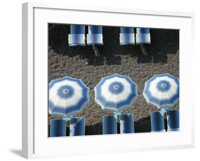 Beach Umbrellas-Karl Blackwell-Framed Photographic Print