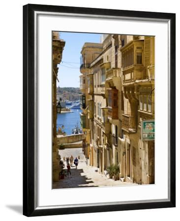 Street in Valletta-Jean-pierre Lescourret-Framed Photographic Print