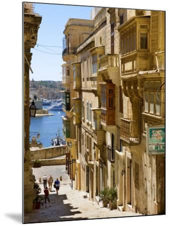 Street in Valletta-Jean-pierre Lescourret-Mounted Photographic Print