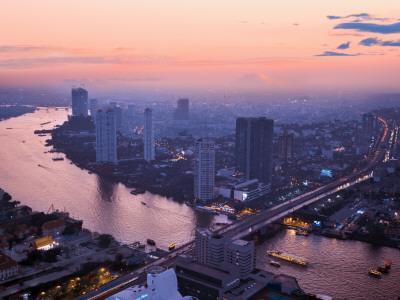 Bangkok Cityscape-Jean-pierre Lescourret-Framed Photographic Print