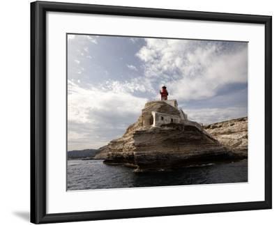 Bonifacio Lighthouse-Manfred Hofer-Framed Photographic Print