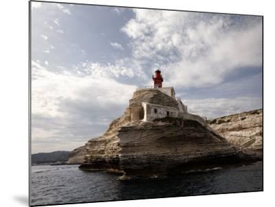 Bonifacio Lighthouse-Manfred Hofer-Mounted Photographic Print