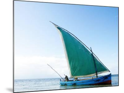 Dhow Sailing Off Coast of Vilanculos-Oliver Strewe-Mounted Photographic Print