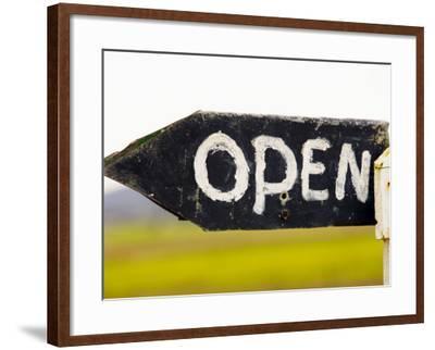 Open Sign Detail-Oliver Strewe-Framed Photographic Print