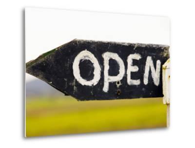 Open Sign Detail-Oliver Strewe-Metal Print