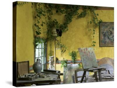 Artists' Atelier in the Gardens of the Ancien Hotel Baudy-Barbara Van Zanten-Stretched Canvas Print