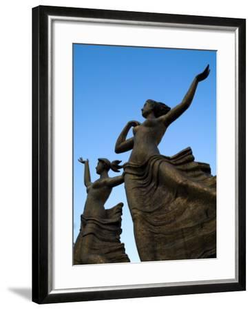 Statue of Women Outside Hiroshima Train Station-Antony Giblin-Framed Photographic Print