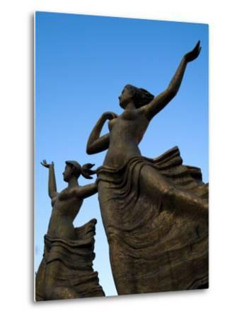 Statue of Women Outside Hiroshima Train Station-Antony Giblin-Metal Print
