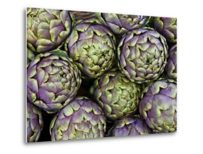 Artichokes for Sale at Market at Campo De' Fiori-Richard l'Anson-Metal Print