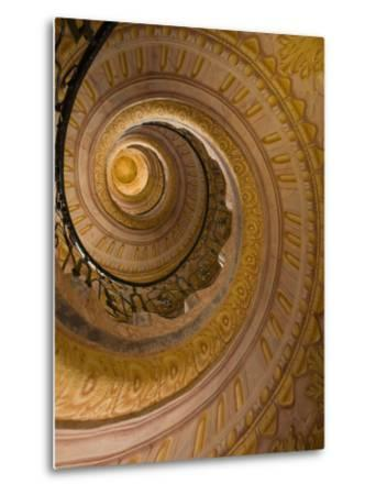 Spiral Staircase at Baroque Monastery Church of Sts Peter and Paul-Richard Nebesky-Metal Print