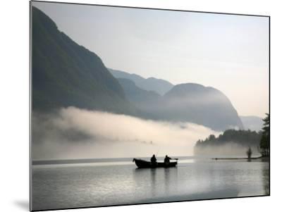 Two Fishermen in Boat on Lake Bohinj (Bohinjsko Jezero)-Ruth Eastham & Max Paoli-Mounted Photographic Print