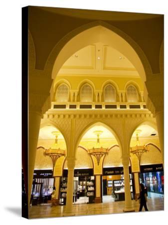 Interior of Dubai Mall Shopping Centre-Richard l'Anson-Stretched Canvas Print