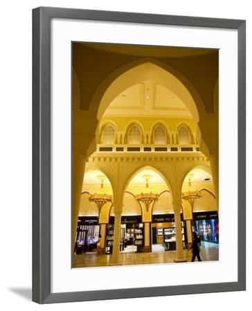 Interior of Dubai Mall Shopping Centre-Richard l'Anson-Framed Photographic Print