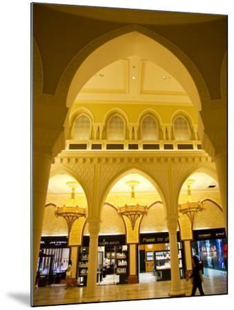Interior of Dubai Mall Shopping Centre-Richard l'Anson-Mounted Photographic Print