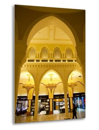 Interior of Dubai Mall Shopping Centre-Richard l'Anson-Metal Print